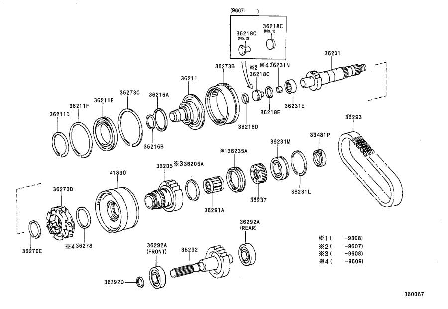 Toyota Previa Ring, shaft snap (for manual transfer