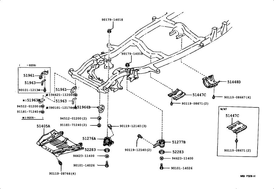 Toyota Truck Cover; protector. Transfer case; transmission