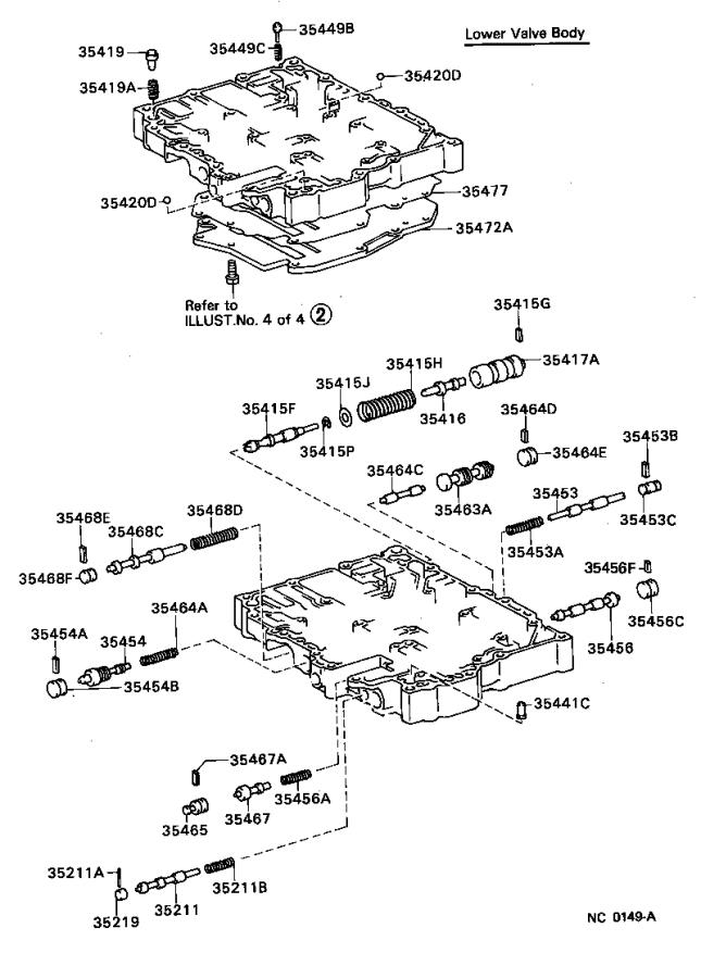 Toyota Corolla Spring sub-assembly, manual detent. Std