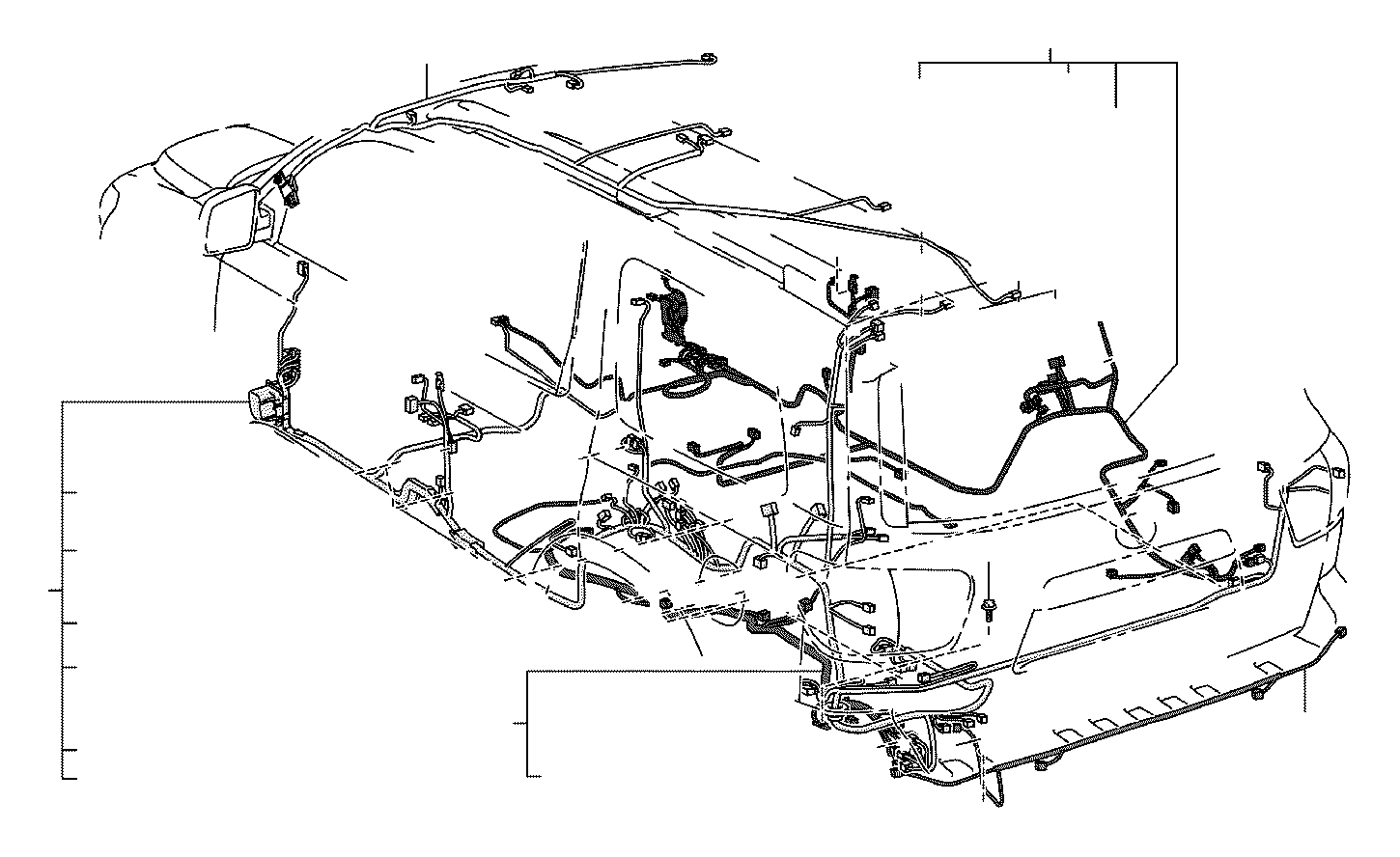 Toyota Sequoia Wire, floor. Engine, clamp, connector