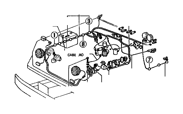 Toyota PickUp Fuse. Block; cowl to headlamp wiring harness