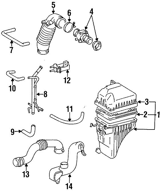 Toyota Previa Mass Air Flow Sensor. ENGINE, CYLINDER