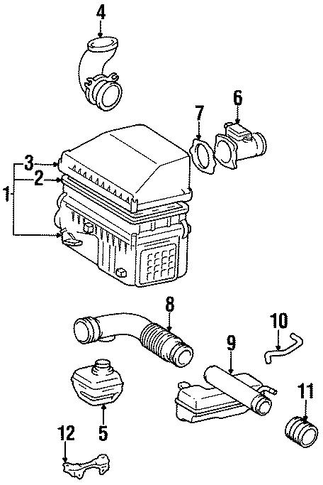Toyota T100 Mass Air Flow Sensor. Engine, CYLINDER, That