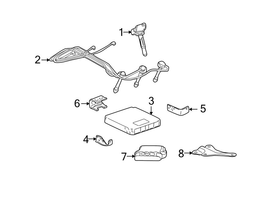 Toyota Tundra Spark Plug Wire Set. Cylinder, LITER