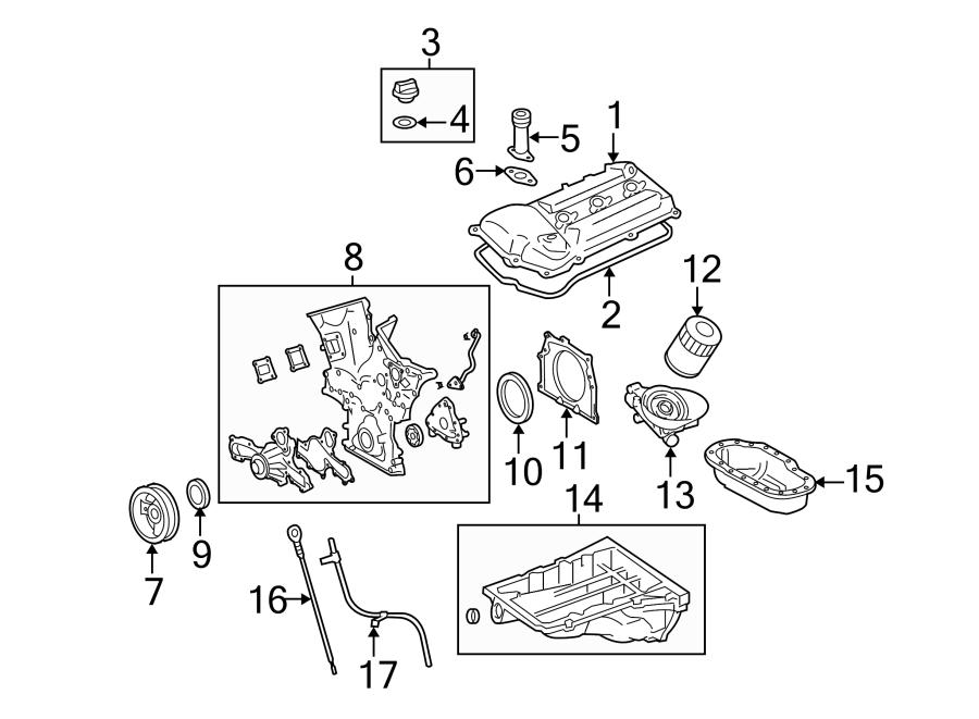Toyota Tundra Engine Crankshaft Seal Retainer (Rear). 4