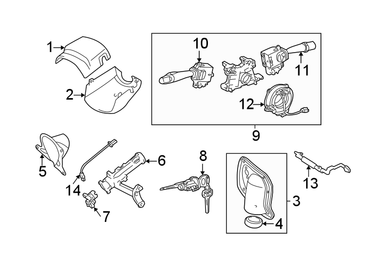 Toyota Tundra Steering Column Cover (Upper, Lower). MANUAL