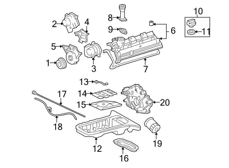 Toyota Tundra Engine Valve Cover Gasket. 4.7 LITER