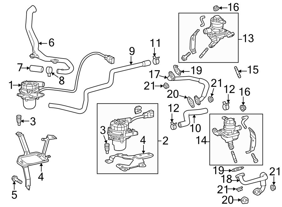 Toyota Tundra Secondary Air Injection Pump Hose