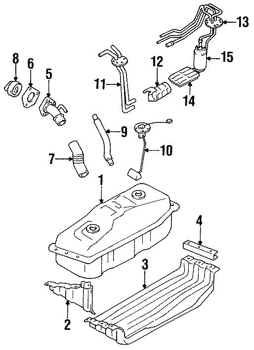 Toyota PickUp Fuel Pump Mounting Bracket. 4 CYLINDER. 6