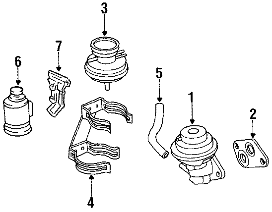 Toyota Tercel Egr valve gasket (right). California