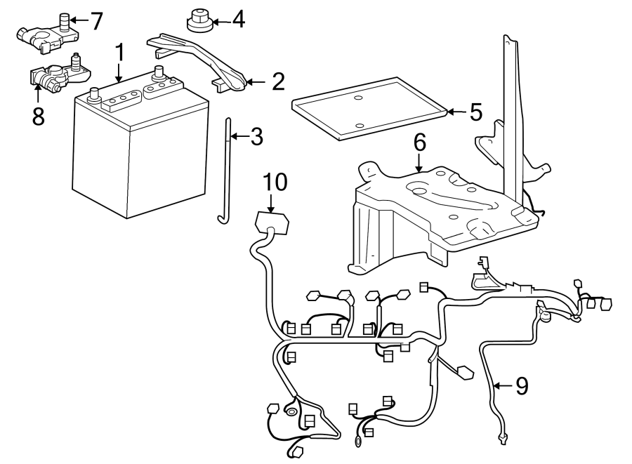 Toyota Yaris Engine Wiring Harness. Auto trans. Telematics