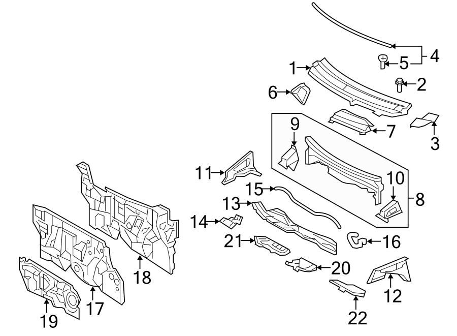 Toyota Yaris Engine Compartment Insulation. SEDAN, inner