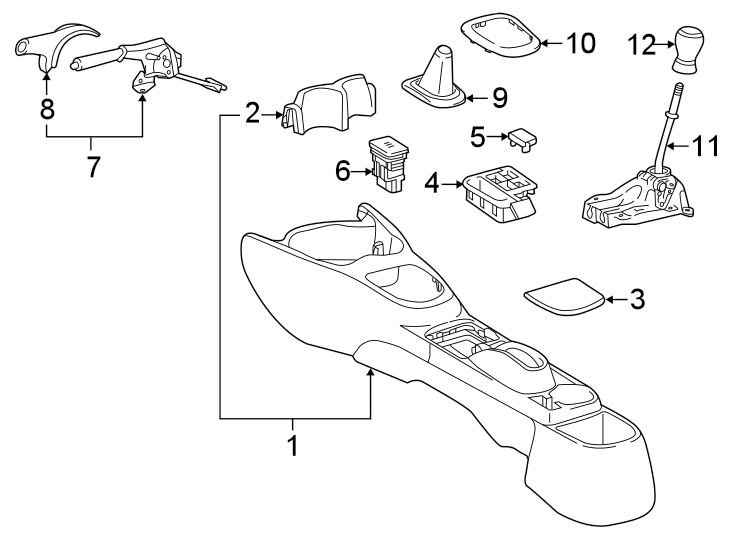 Toyota Yaris Manual Transmission Shift Lever. 2012-14