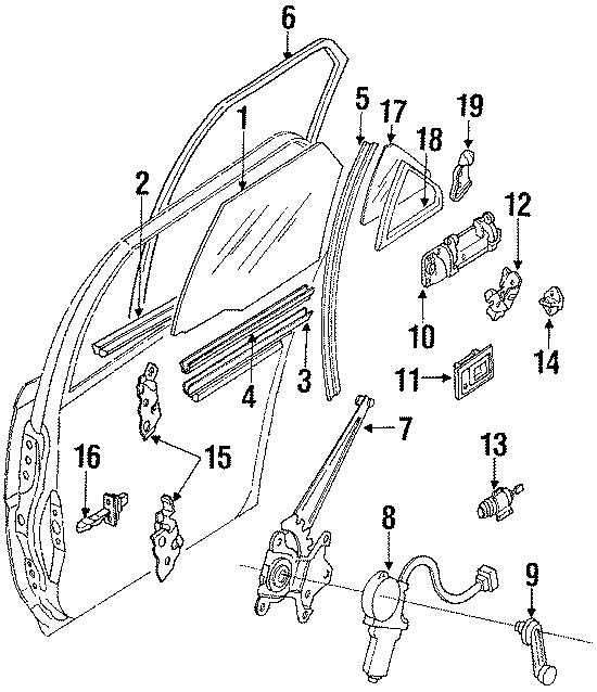 Toyota Corolla Handle assembly, rear (rr) door. Handle