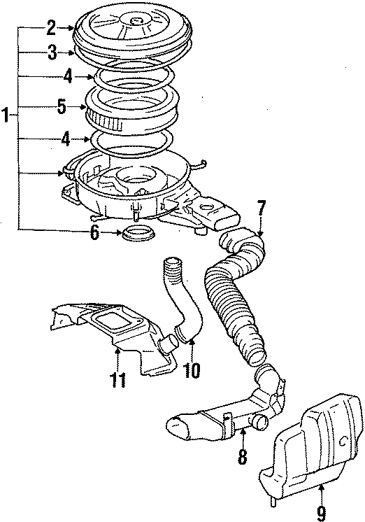 Toyota Corolla Gasket. Filter. ELEME. Element. Air valve
