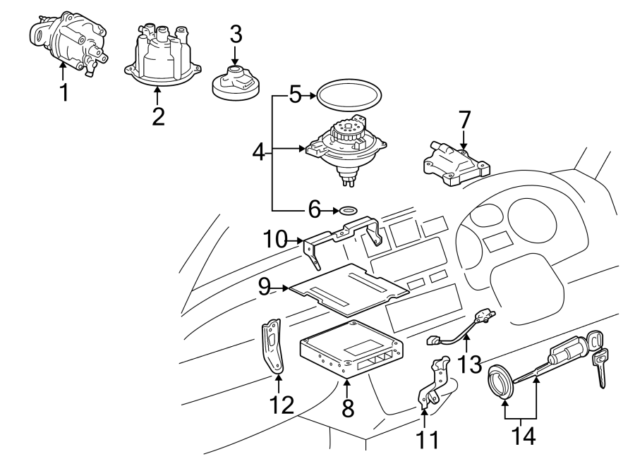 Toyota MR2 Ring. Coil. 1.8 LITER. 1996-97. 2.2 LITER, 1994