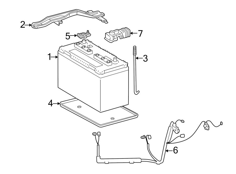 Toyota 4Runner Battery Cable Harness. 3.4 liter. 4-Runner