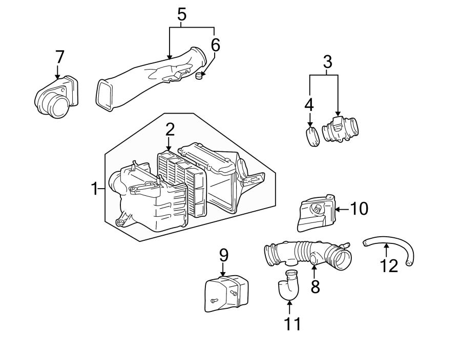 Toyota 4Runner Engine Air Intake Resonator. 3.4 LITER