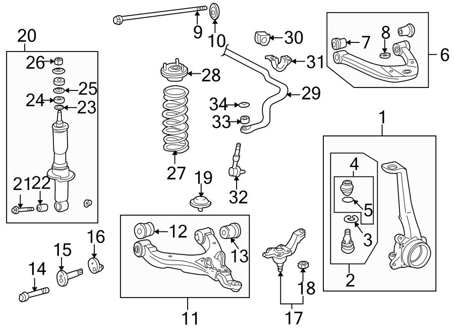 Toyota 4Runner Suspension Control Arm Bushing. 2WD. 4
