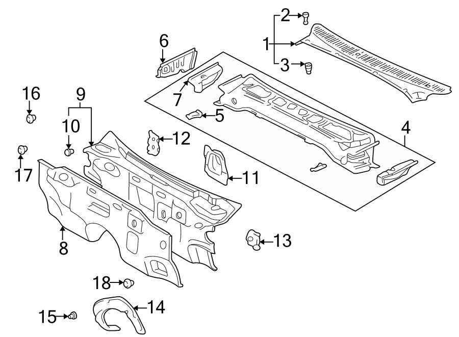 Toyota 4Runner Engine Compartment Insulation (Front