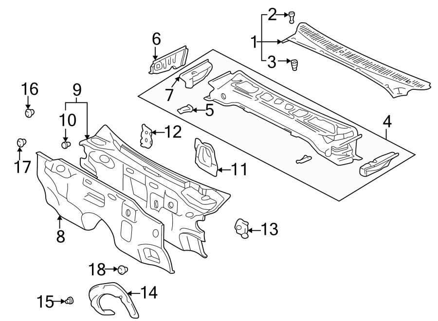 Toyota 4Runner Engine Compartment Insulation. Engine