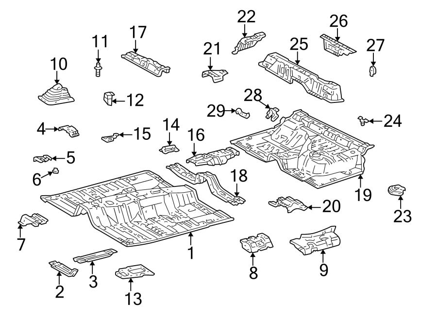 Toyota 4Runner Floor Pan (Front, Rear). 4WD, manual trans