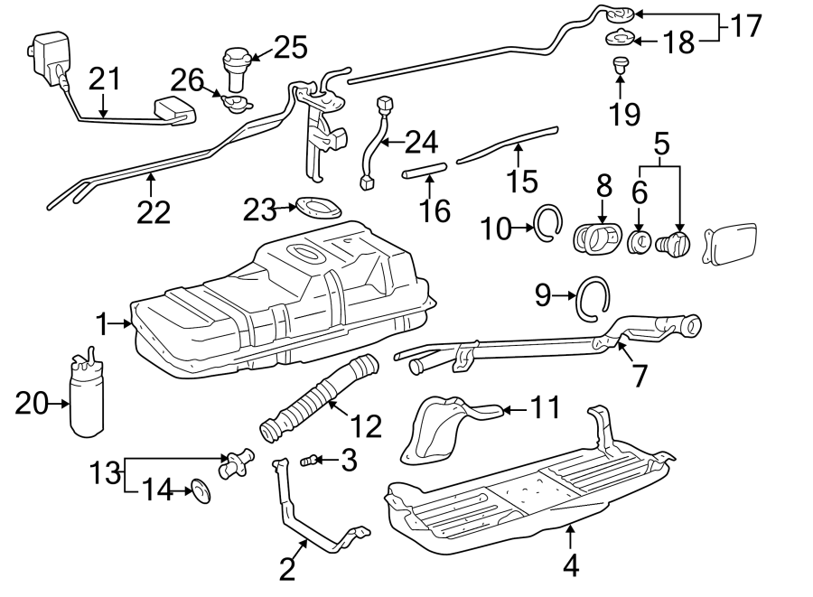 Toyota 4Runner Fuel Tank Vent Hose Gasket. COMPONENTS