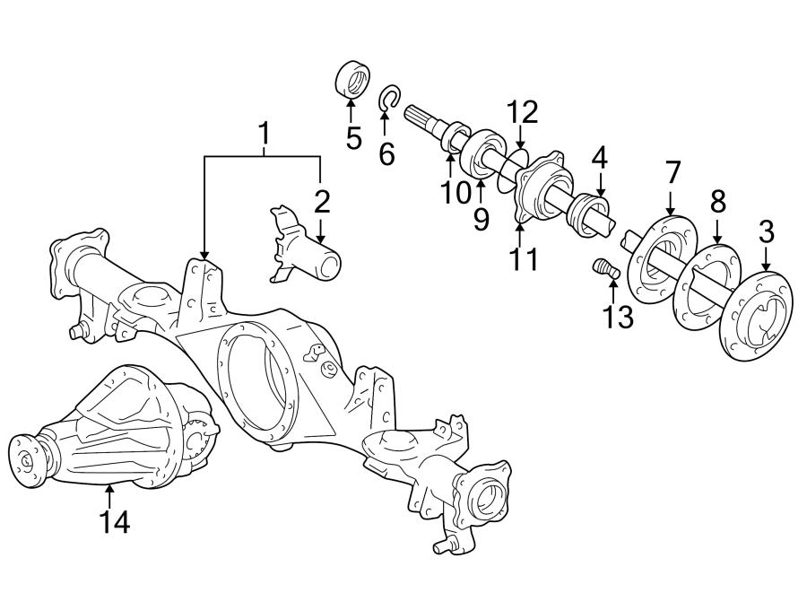 Toyota 4Runner Axle shaft. Shaft, rear (rr) axle. 2.7