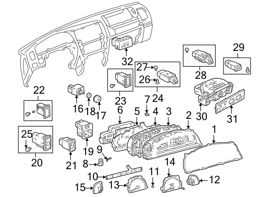 2002 Toyota 4Runner Instrument Panel Light Bulb