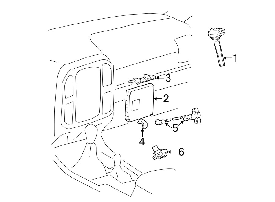 Toyota Land Cruiser Computer, engine. Ecm. Engine control
