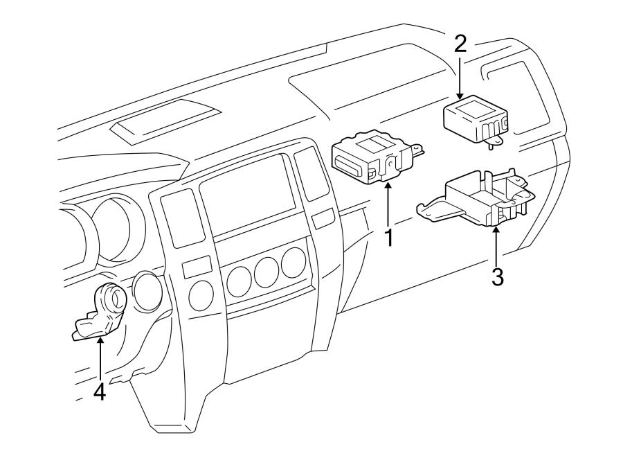 Toyota 4Runner Anti-Theft Alarm Control Unit. System