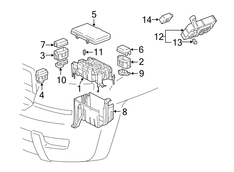 Toyota 4Runner Fuse Box Cover (Upper). ENGINE COMPARTMENT