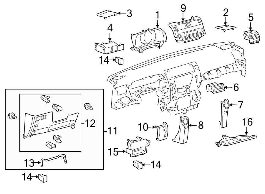 Toyota 4Runner Instrument Panel Bezel (Upper). Trail