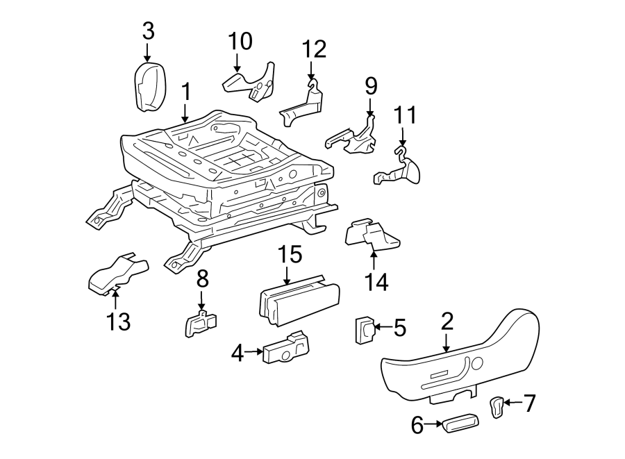 Toyota 4Runner Power Seat Switch Knob. DRIVER SEAT, W