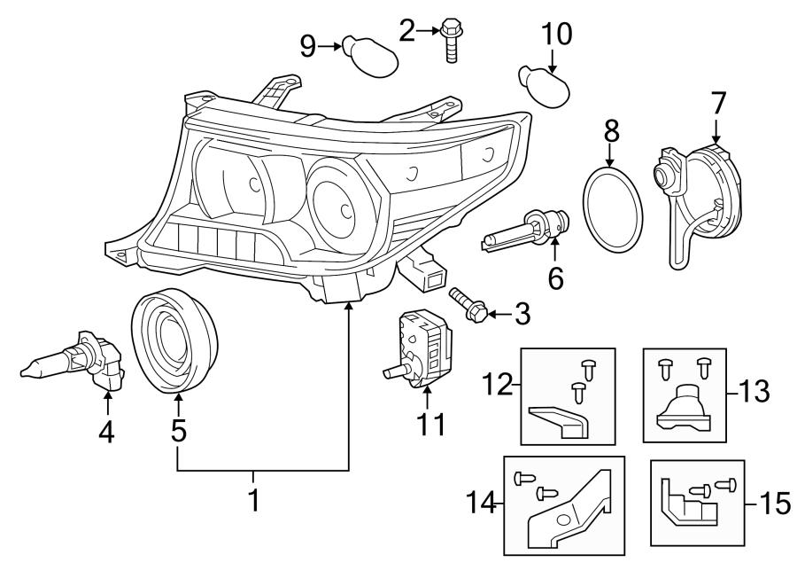 Toyota Land Cruiser Headlight Motor. 2013-15. 2016-20