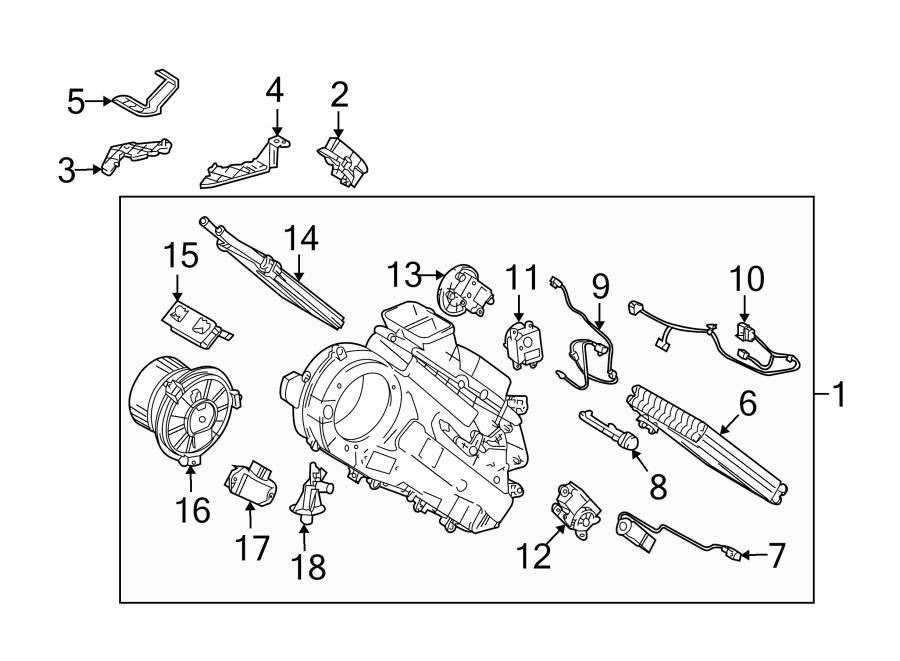 Toyota Land Cruiser Hvac system wiring harness (front