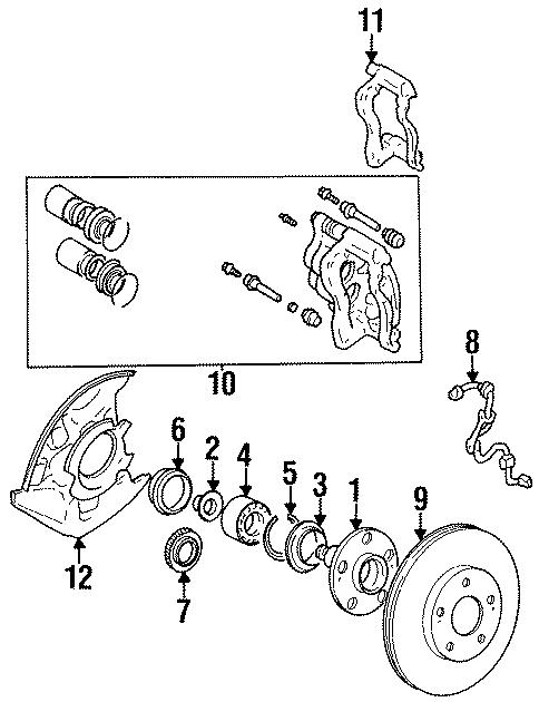 1991 Toyota MR2 Abs wheel speed sensor (right, front