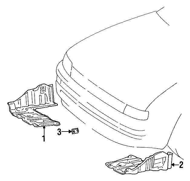 Toyota Corolla Radiator Support Splash Shield. Manual