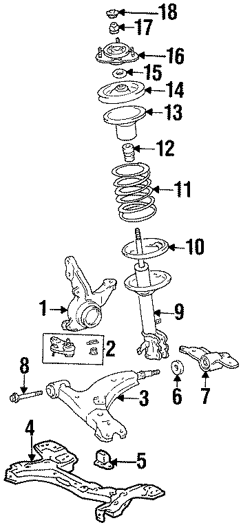 Toyota Corolla Obs. Steering knuckle. Suspension, wpower