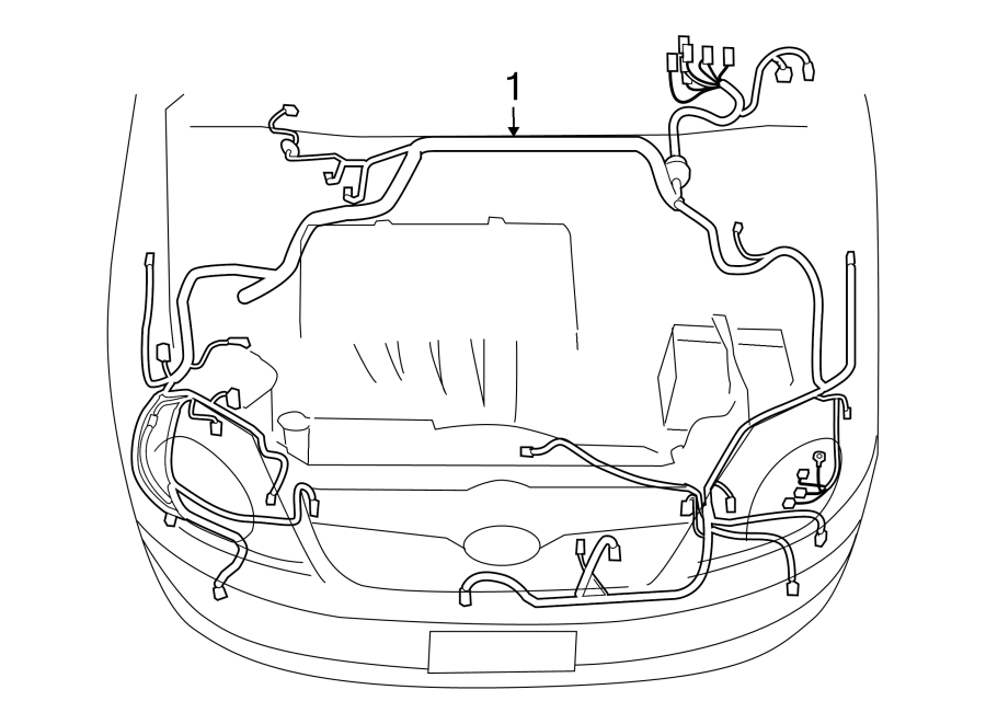 Toyota Corolla Engine Wiring Harness. Floor, LE, S, XRS