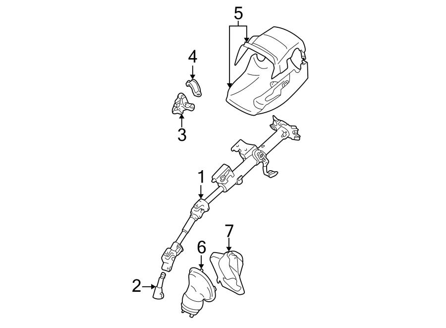 Toyota Corolla Steering Shaft. Matrix. COLUMN, Intermed