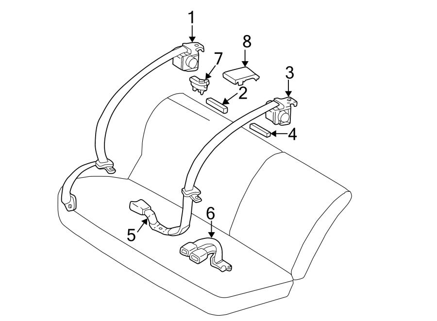 Toyota Corolla Cushion. Belt. AND retractor. Engine Decal