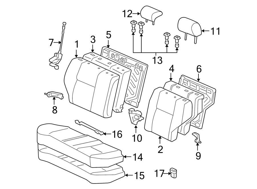 Toyota Corolla Headrest Guide. Stone, Lock, SEAT