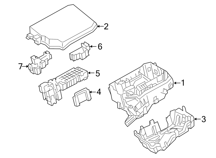 Toyota Corolla Cover, relay block,. Lower cover. Engine