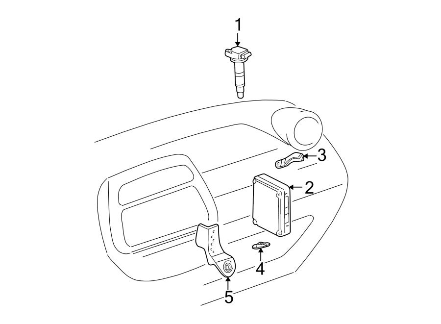 Toyota RAV4 Engine Control Module. Auto trans, 4WD. RAV4
