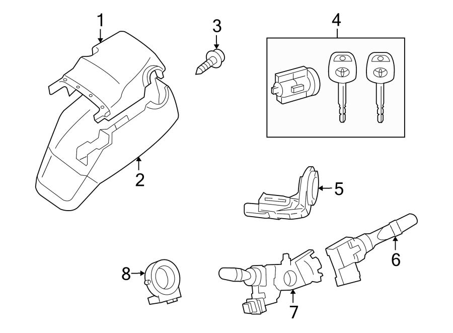 Toyota Sequoia Ignition Immobilizer Module. TILT, POWER