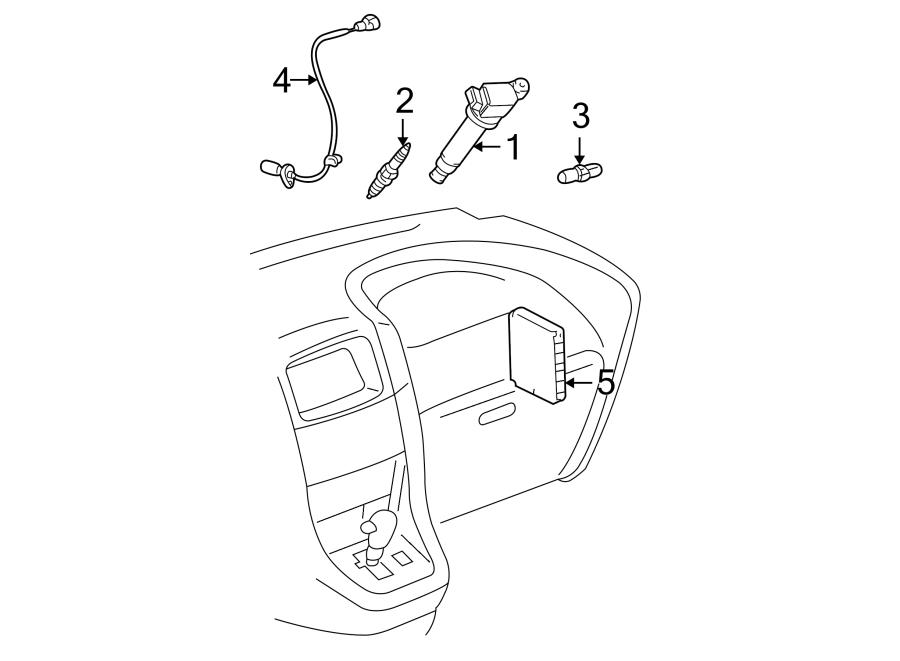 Toyota Highlander Computer, engine control. Ecm. Engine