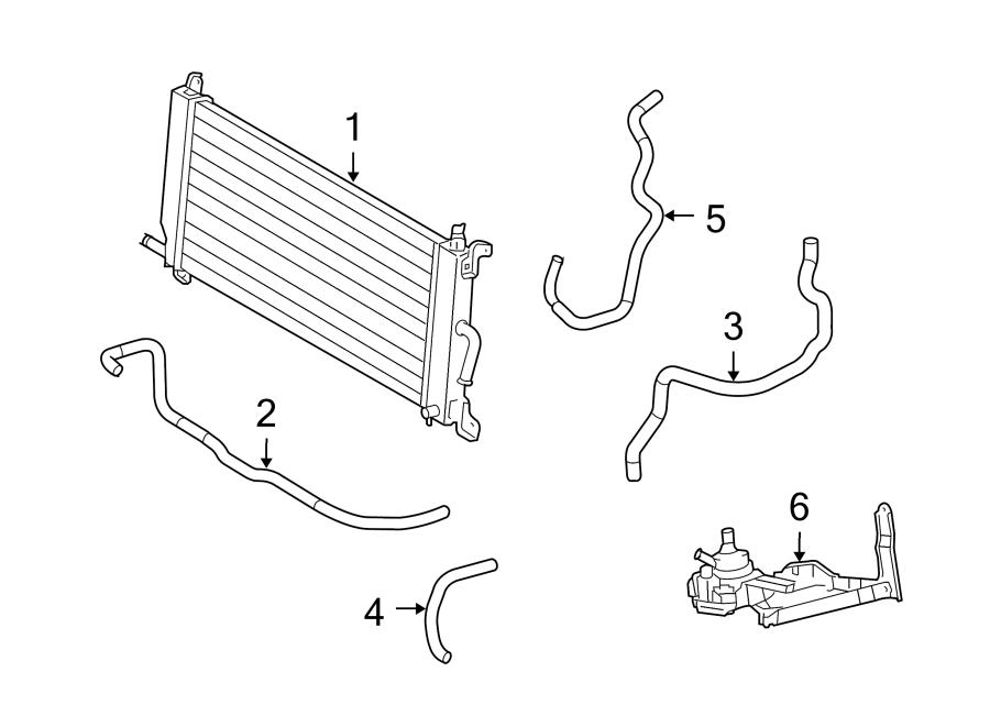 Toyota Highlander Drive Motor Inverter Cooler. Radiator