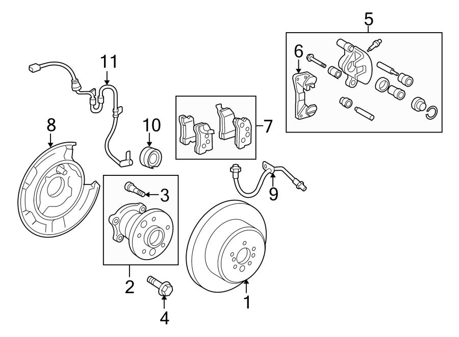 Toyota Highlander Abs wheel speed sensor wiring harness