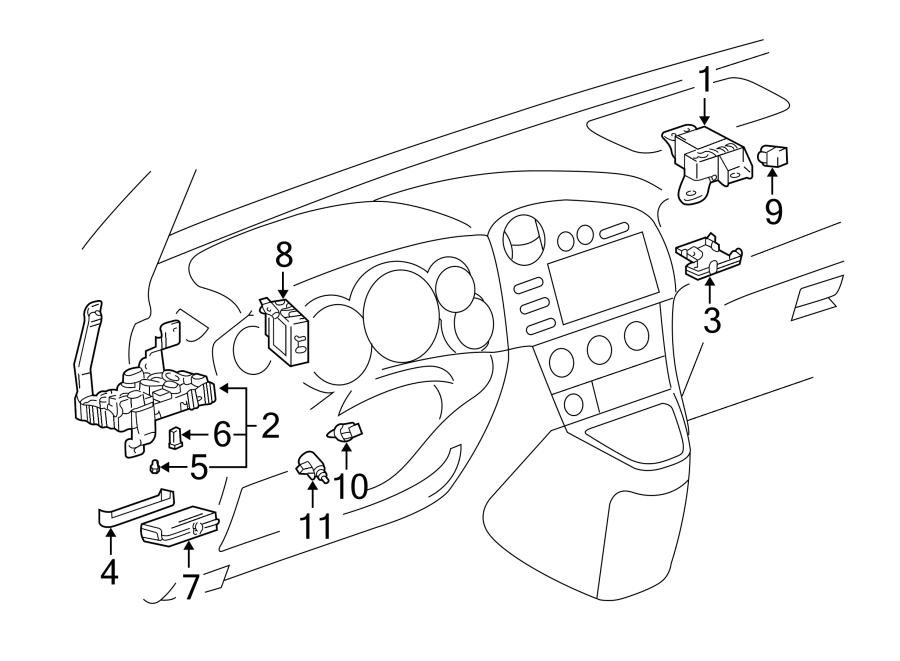 Toyota Matrix Control module. Relay, integration w